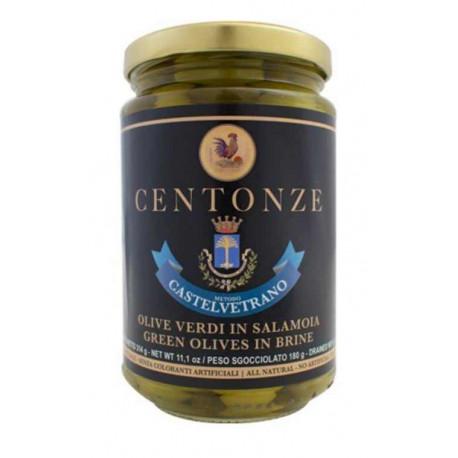 Green Olives in Brine (Olivy zelené), Centonze, 340g
