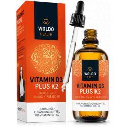 Vitamíny D3 + K2 (MK7) v MCT oleji, 50ml, 1800 kapek