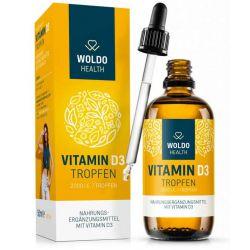 Vitamín D3 kapky, 2000 IU, 50ml, 1800 kapek