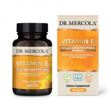 Vitamín E, 308 IU, 30 kapslí