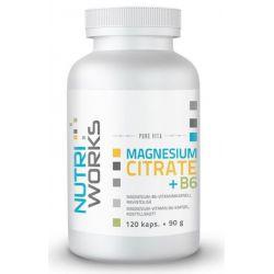 Magnesium Citrate + B6 120 kapslí