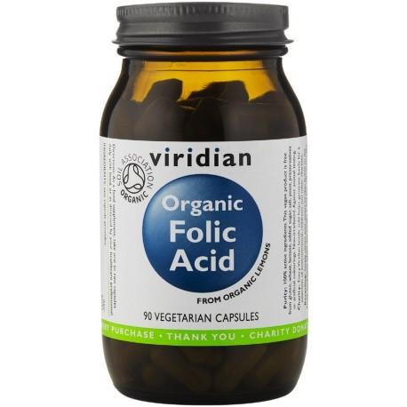 Organic Folic Acid, kyselina listová, 90 kapslí, 400 mcg