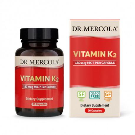 Vitamín K2, 180mcg, 30 kapslí