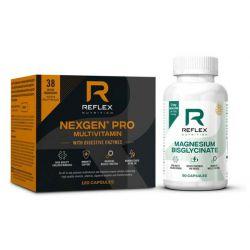 Nexgen® PRO, Digestive Enzymes 120 kapslí + Albion Magnesium 90 kapslí