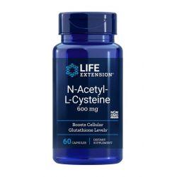 N-Acetyl-L-cystein, NAC, 600 mg, 60 kapslí