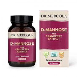 D-Mannose and Cranberry Extract, 500 mg, 60 kapslí