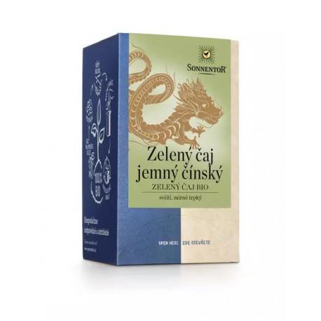 Sonnentor Zelený čaj jemný čínský bio 27 g porcovaný dvoukomorový