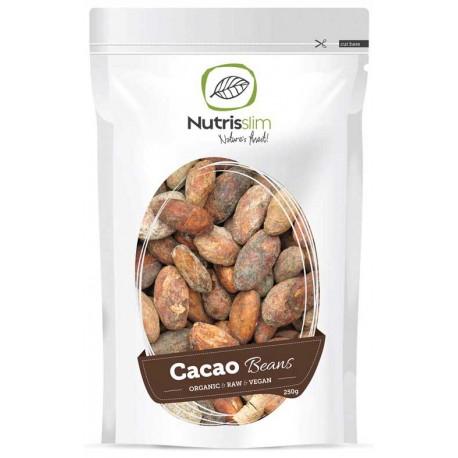 Bio Cacao Beans, kakaové boby neloupané 250g